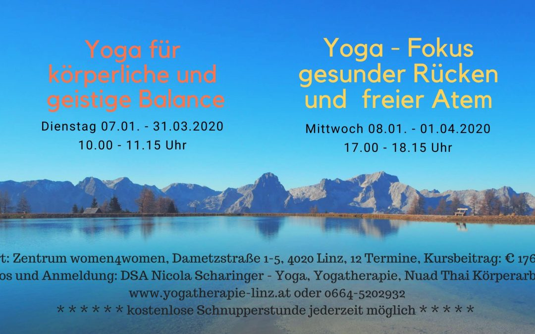 Aktuelle Yogakurse in Linz – ab Jänner 2020